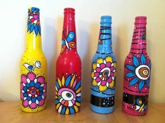酒瓶彩绘diy 激发你的创意灵感