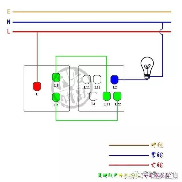其余断路器接线方式如下▼ 1p漏电断路器 完整配电箱接线(示例)方式如