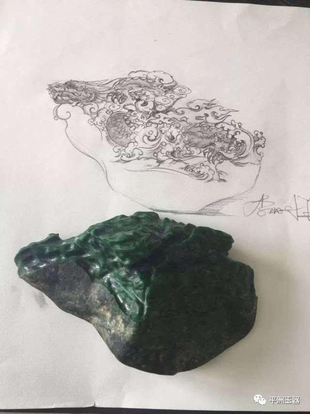 因材施艺,李牧祥手绘设计图