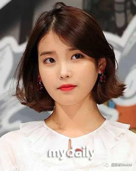 想带去理发店照着剪的韩国女明星短发造型是?图片