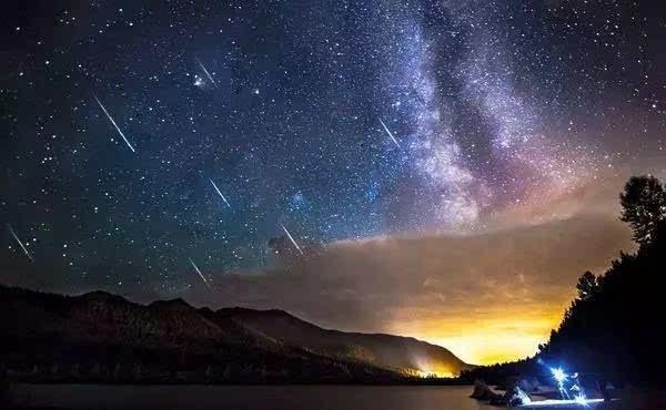 我们一起华科最高点看流星雨吧