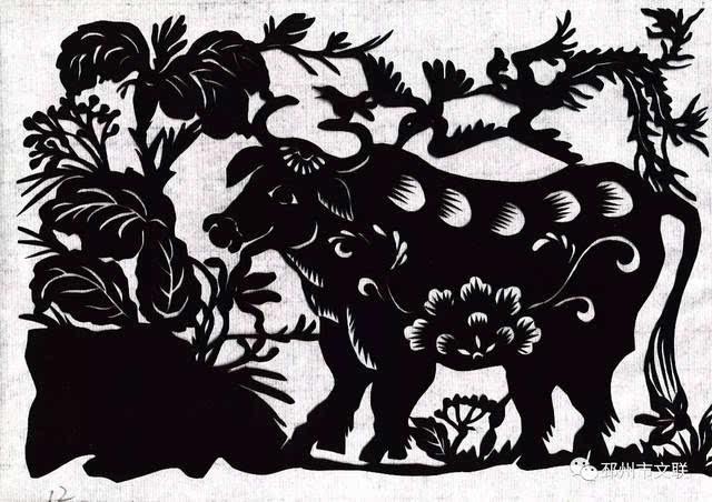 艺苑邳州●剪纸|黄继婷剪纸连环画:生肖动物故事(六)牛