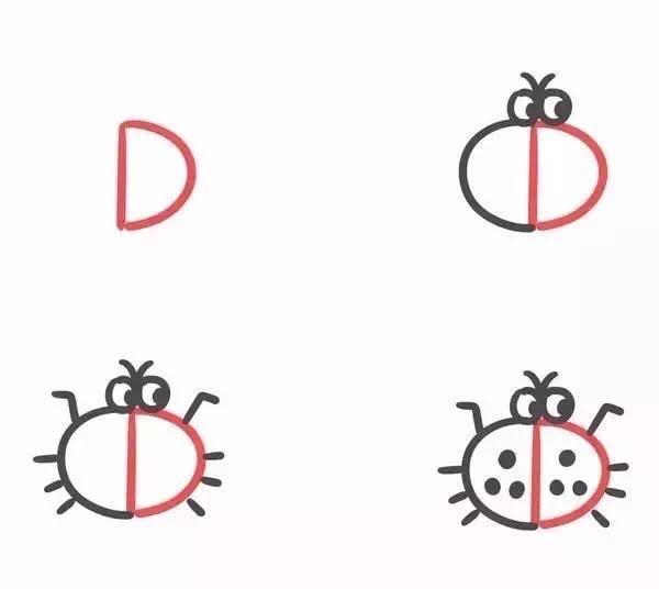 英文字母儿童简笔画
