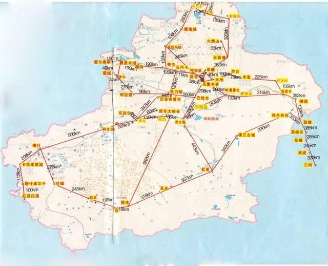 新疆自驾游的必备神器——旅游地图,你一定要收藏好喽