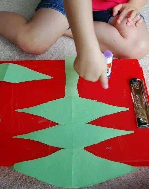 剪纸手工制作恐龙
