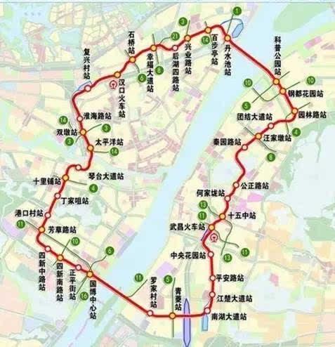 武汉地铁12号线2017年3月版本线路图片