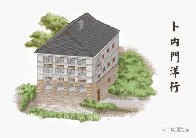 二,三层有柱廊,柱廊有砖砌花纹装饰,柱式为西式圆形砖柱,两柱之间砖砌