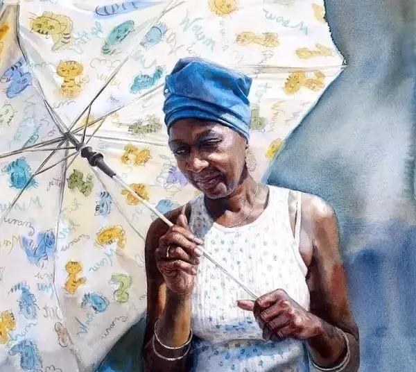 玛丽·怀特水彩画人物作品欣赏