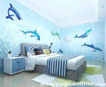 3款diy手绘涂鸦创意背景墙装修效果图——陪伴墙