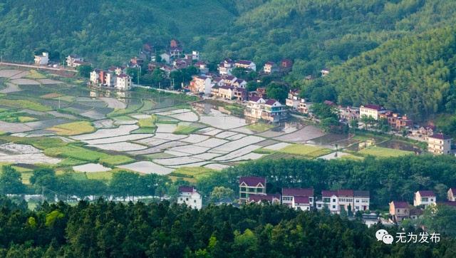 万年台风景区位于安徽省芜湖市无为县西南,属鹤毛镇,与庐江县毗邻,鹤