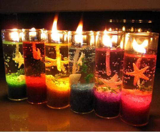 飘荡着海洋的气息…… 果冻蜡烛 梦幻浪漫 果冻蜡烛又称水晶蜡烛,为