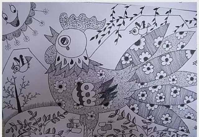 儿童画基础技巧练习——线的练习图片