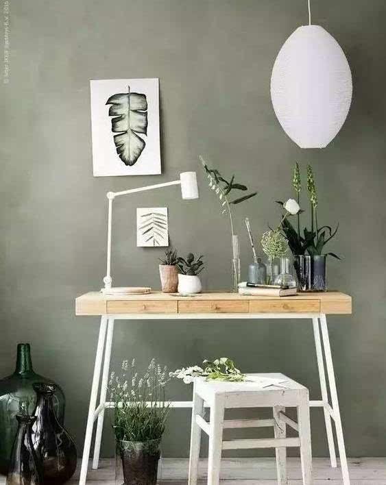 如果单看绿色和白色相称会显得略带冷清感,而点缀上欢快的黄色,反到呈现有点偏东南亚的热带风格。 一些中性色比如米色、白色、原木色等和绿色、黄色两种颜色搭配都能碰撞出干净感。 绿植 植物算是ins家居中最常见的装饰,清爽的绿色可以让整个空间显得清新又自然。  家居绿植届,最适合懒人的仙人掌、尤加利、龟背竹算是ins上最常见到的plants indoor。