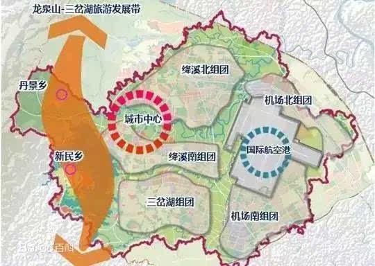 成都空港新城规划图-成都的下一个5年,就在这里