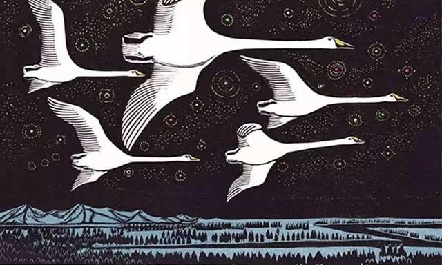 制版和印刷又要花3个月 《大天鹅的离别》 说到这里不得不提木刻版画