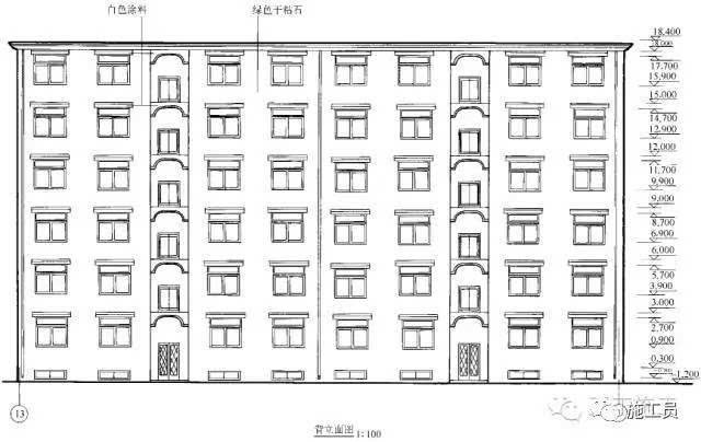 建筑剖面图用以表示建筑内部的结构构造,垂直方向的分层情况,各层楼