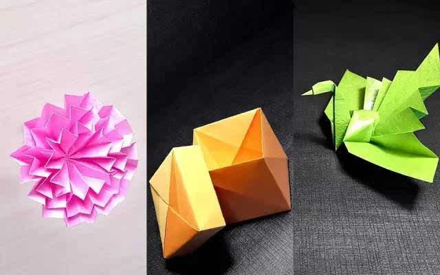康乃馨的折纸步骤图解