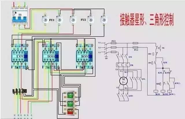 380双速电机接线图