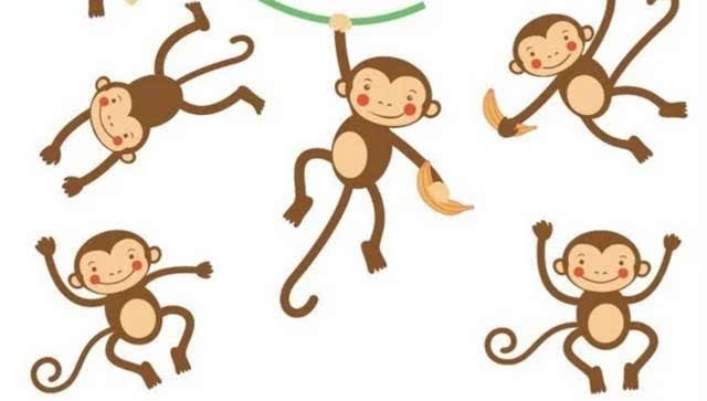 """""""猕猴们听后都很开心地趴下,都很高兴对那老人服服帖帖的了."""