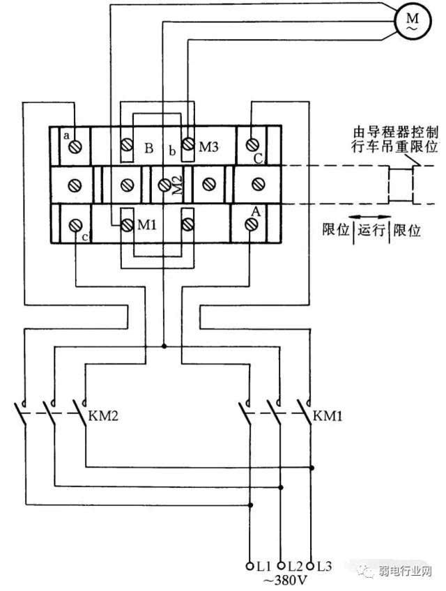 这里介绍一种常用限位器接线方法,这种限位器主要用于行车的上下电动