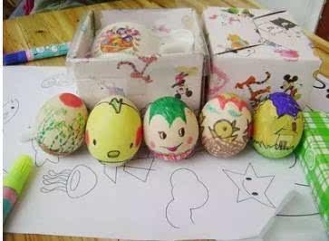 【家乐园内丘店】手绘彩蛋diy创意上演,孩子们这个周末这样度过,下