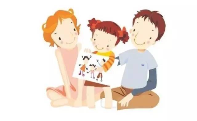 妈妈牵手孩子图片卡通