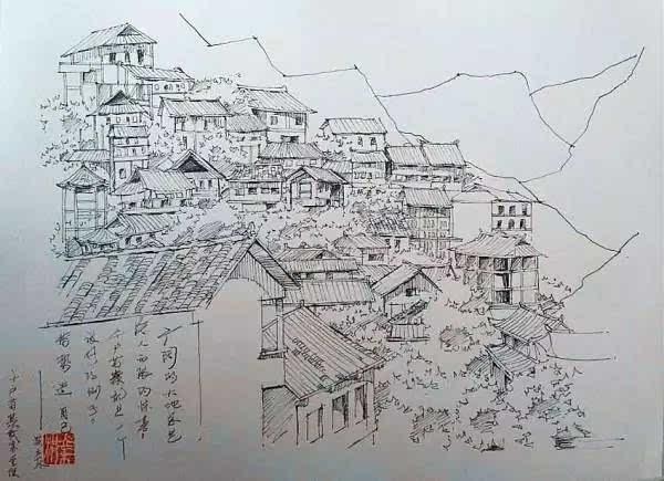 地图 简笔画 手绘 素描 线稿 600_435