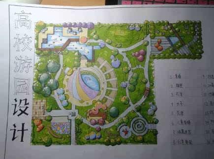 园艺室内平面手绘图