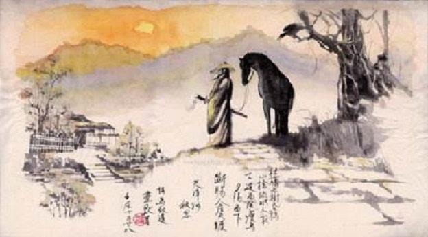 古人云:四句诗词,黄昏是最美的光景,却也最易惹起思念图片