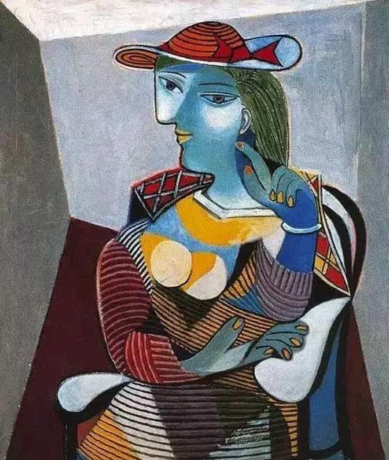 毕加索《戴帽女人》