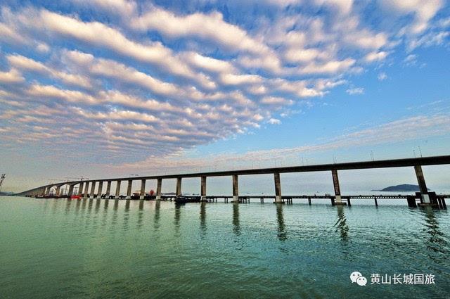 平潭岛(车程约2小时),途中经过雄伟壮观的——【中国平潭跨海特大桥】