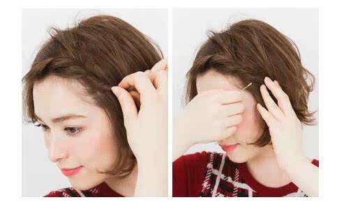 千寻盘发| 短发半扎头怎么扎法,性感又可爱!