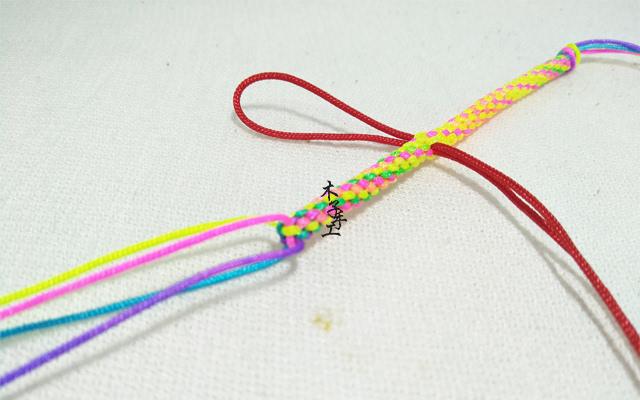 手工红绳编织,爱心挂饰编法图解