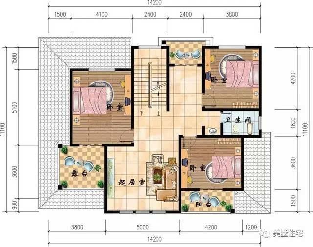14x11米农村别墅,堂屋的设计,是我们对文化的传承