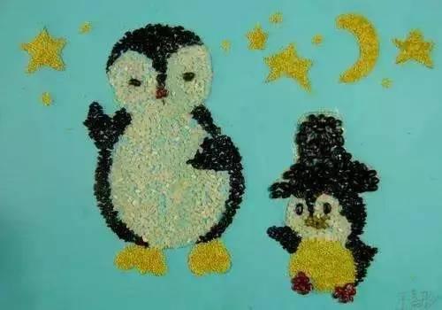 幼儿园手工 豆子画图片