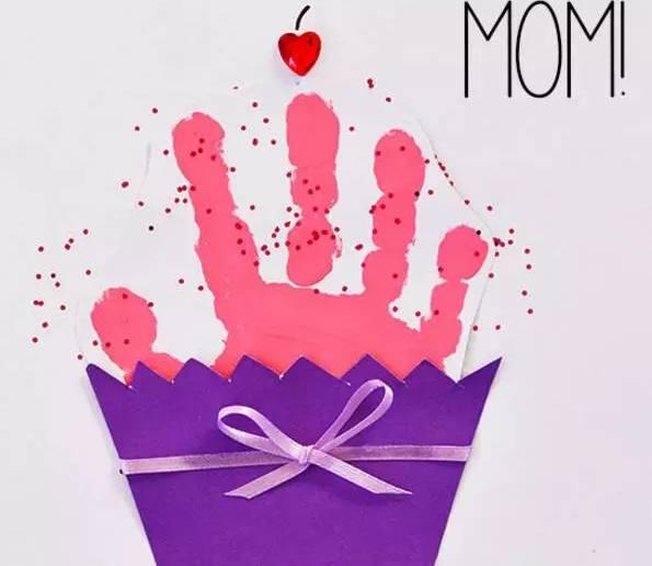 幼儿园母亲节手工制作 立体爱心花束贺卡手工制作