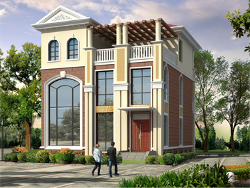 带露台三层小别墅设计图农村房屋设计图