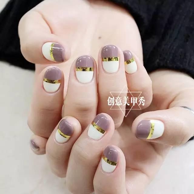 短指甲适合做的五种美甲款式