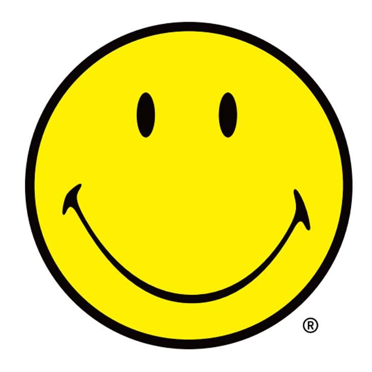 这个黄色笑脸是品牌smiley的代表.图片