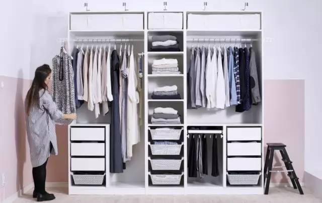 衣柜内部结构正面图