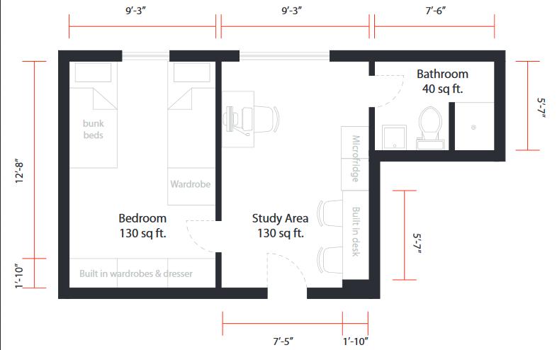 信息中心 新生攻略第三弹 | housing 宿舍选择            四人套间 4图片