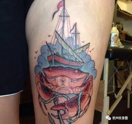 tattoo | 纹身素材:十二星座之巨蟹狮子座