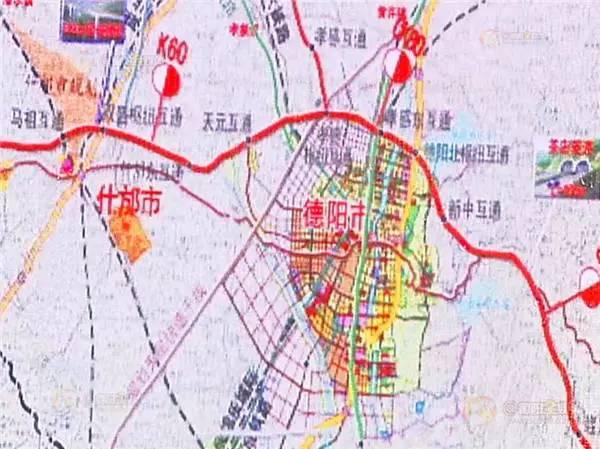旅游 正文  成都经济区环线高速公路德阳段,分德(阳)简(阳)段和德(阳)图片