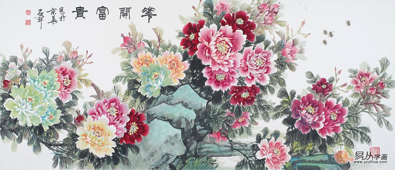 最简单牡丹花的水墨画-鲁人石开 国画牡丹画的经典塑造者