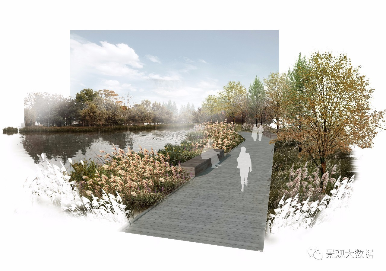 01 滨水景观效果图制作【重在处理水边驳岸,道路与乔木的空间关系】