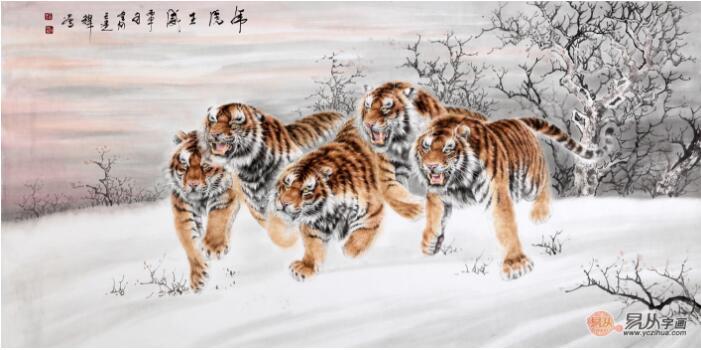 中国虎王新秀王建辉 王建辉最新虎画作品欣赏