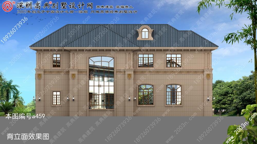 农村两层石材外墙别墅设计图首层193平方米