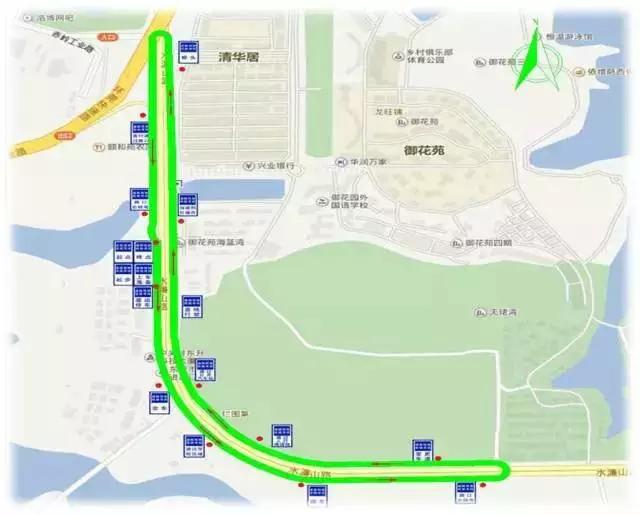 看 东莞水濂山电子路考路线图图片