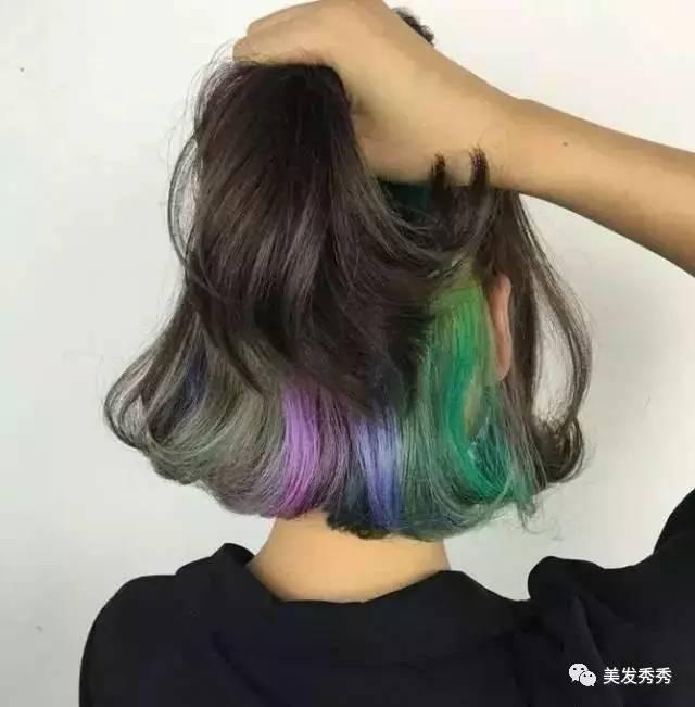 裙摆染发,在头发里藏着梦幻的彩虹图片