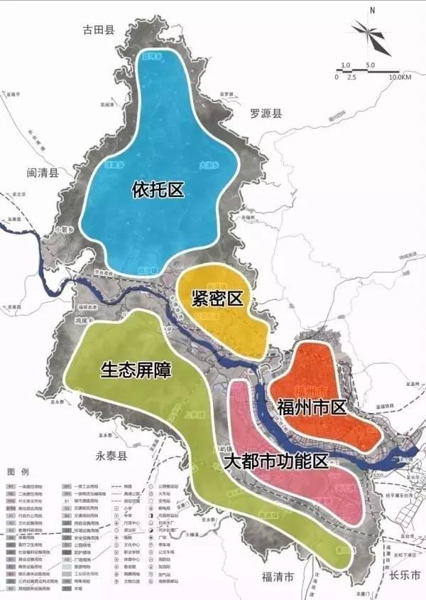 闽侯规划图 交通方面: 路网密集+双地铁穿行 南通板块交通路网包含